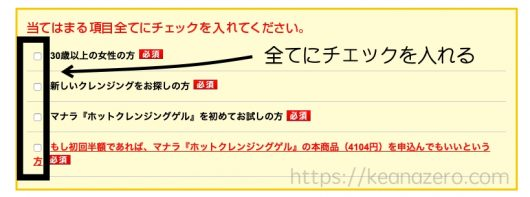 マナラ100円モニター注意点