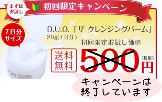 duo500円モニターキャンペーン